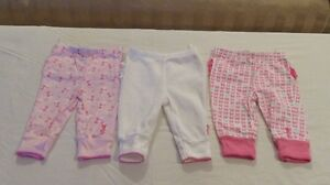 3 Juicy Couture Bottoms 0-3 Mths