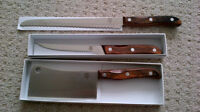 NEW - Set of 3 Chefco Knives (Boning, Bread, Cleaver)