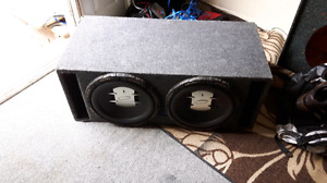 "two 12"" phoenix gold xenon subs"