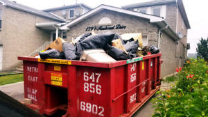 DUMPSTERS FOR ROOFING SHINGLES RENOVATION WASTE FLAT RATES