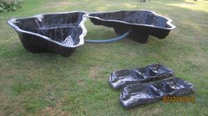 2 bassins jardin d eau + pompe