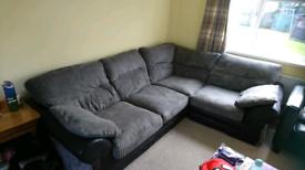 Large Grey Corner sofa. Only 2yrs old