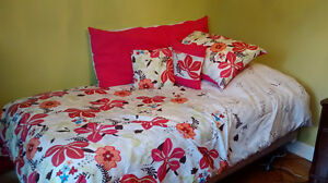 Twin Comforter Bed Set, Curtains & Sheers (Complete)