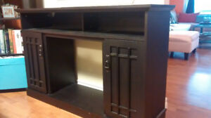 Rustic TV unit (missing electric fireplace insert)