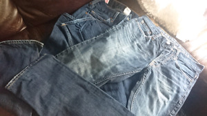 Men's 30x34 true religion and AG jeans