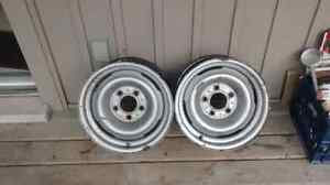 "Two Chevy 15"" steel rims London Ontario image 1"