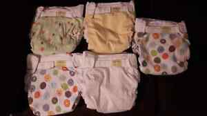 5 Kushies cloth diapers