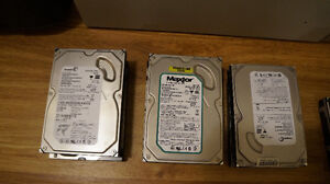 various working hard drives for PC--80 gig