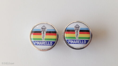 Vintage style Pinarello Handlebar End Plugs