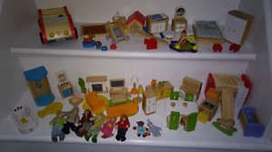 HAPE Toys Wooden Dollhouse Furniture Sets and Dolls