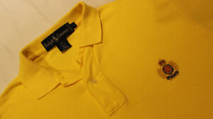 Early Vintage POLO Ralph Lauren Shortsleeve CREST Knit - M/L