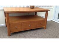 Next solid oak TV/coffee table unit