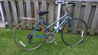 "VINTAGE ROAD/RACER 10 SPEED CONVERTED TO CRUISER 27"" WHEELS"