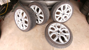 Summer Tires on Mags 205/45R17 for Mini Cooper