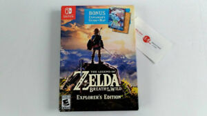 Switch Zelda Breath Of The Wild EXPLORER EDITION NEW