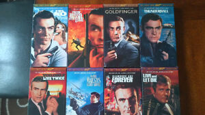James Bond VHS tapes