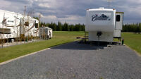 RV vacation rental at Coyote Golf and RV Resort.Sundre