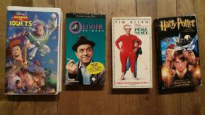 VHS StarWars, Potter1, traces Père Noël, Histoire jouet, Olivier