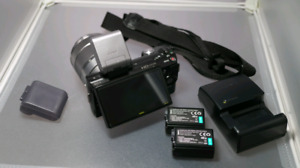 Sony Nex 5 camera with lens & extras