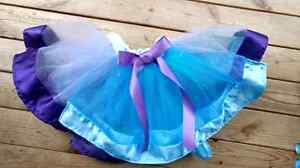 Royal purple and teal tutu and highchair cover