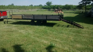 """ATV Snowmobile Trailer 7'6"""" x 18'6"""" tons of space, easy to tow"""