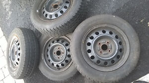 Tires on rims in good condition London Ontario image 3