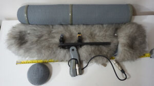Microphone, Graphite Boom Pole, Rycote Blimp & other Audio Gear