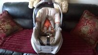Graco car seat with base, bath tub, ride on toy, and more