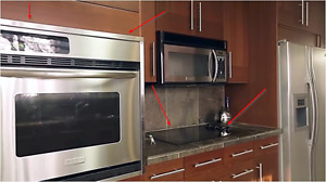 Frigidaire Wall Mounted Oven & Ceramic Glass Cooktop
