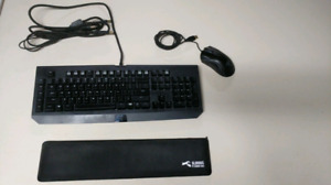 Razer Keyboard and Mouse with Wrist rest