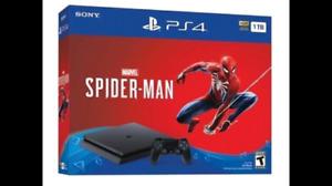 Brand new sealed Ps4 slim 1 tb Spiderman bundle + Sony warranty
