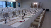 From table linens to backdrop rentals