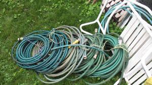 Garden Hose and Reel +  Watering can, sprinklers, sprayers