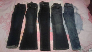 Girls jeans lot size 7/8 all excellent condition