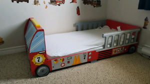 Fire Truck Toddler Bed (mattress not included)