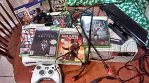 Xbox 360, 8 Games (2 for kinect), Kinect, HDDVD Player 150$ OBO