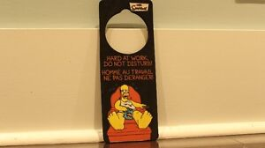 "Homer Simpson Bilingual Doorknob Sign ""Do Not Disturb"""