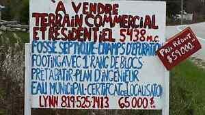 ATTENTION.. AUBAINE .TERRAIN A VENDRE  LOW QC Gatineau Ottawa / Gatineau Area image 1
