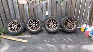 Selling Rims with summer tires.  Kitchener / Waterloo Kitchener Area image 1