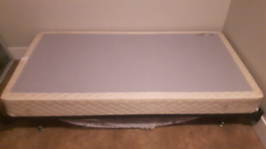 Used Single Box Spring & Frame