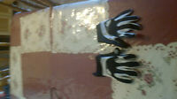 Black and White Motorcycle Glove New
