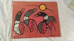 NATIVE ART ON CANVAS-SIGNED LOCAL ARTIST