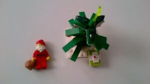 lego santa with christmas tree see pictures
