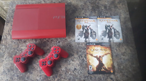 PS3 500GB God of War Edition w/Games *RARE*