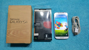 FIRM $135 Samsung S4 UNLOCKED Mint condition+BOX+case+cable