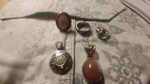 5 lovely pieces of 925 silver jewelry