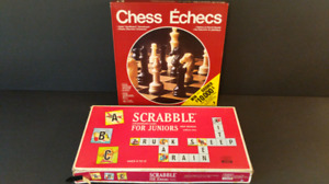 Vintage Chess & Scrabble Juniors Games Great for Cottage!