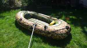 6 person inflatable boat with 2 electric trolling motors