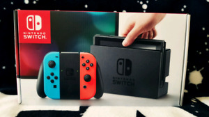 BRAND NEW, UNUSED and SEALED Nintendo Switch in Neon Joy Con