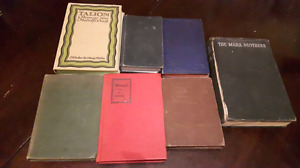 27 Antique Vintage Books